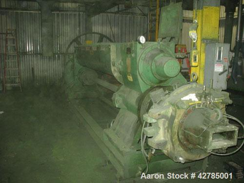 Used-J C Steele Combination Pug Mill/Extruder, model 20E. Includes an automatic cut-off machine. Manufactured 1984. Reported...