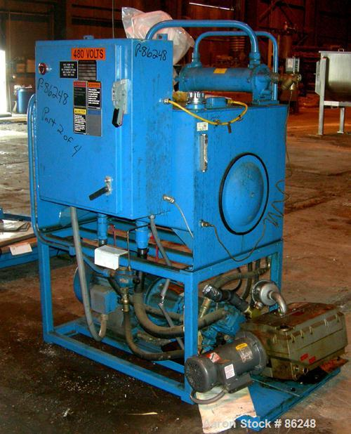 "USED: C A Lawton 285 ton lithium extruder, model 285TONEX. Barrel diameter 4-1/2"" x 38"" long, stroke 58"", daylight, extruder..."