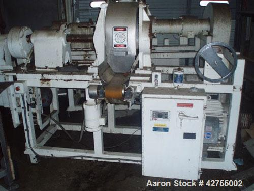 Used-Maddox FCP300 Products Extruder capable of producing 275 to 320 lbs per hour (125 to 145 kg/hr) of raw collets and up t...
