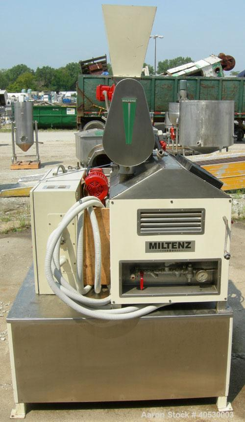 """Used- Miltenz Single Screw Laboratory Steam Extruder, model 51-SP. Approximate 2"""" diameter screw. Approximate capacity 15 to..."""