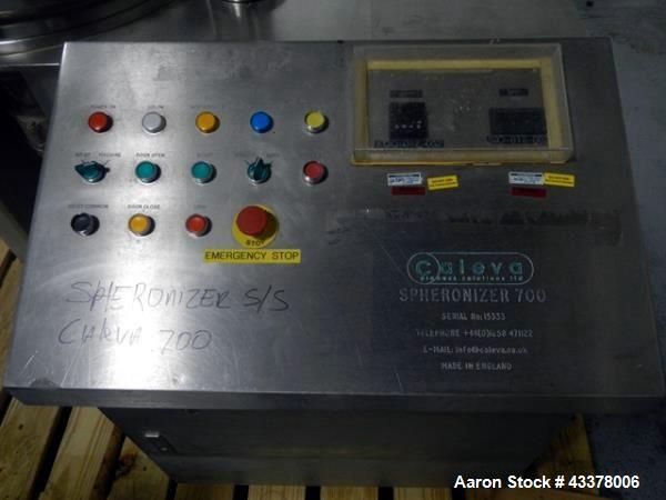 Used- Caleva Spheronizer, Model 700