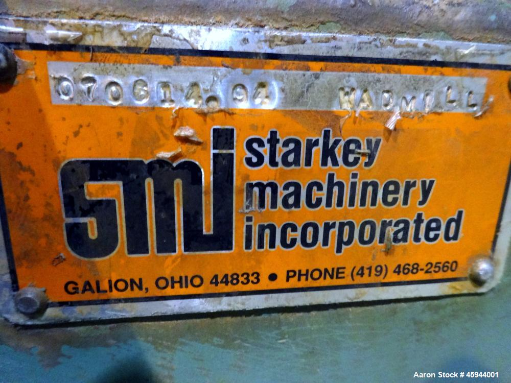Used- Starkey Machinery De-Airing System Consisting Of: (1) Starkey Machinery dual shaft paddle mixtruder, model SFM-66, 304...