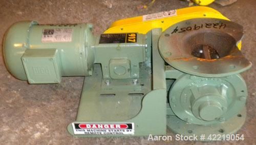 Used- WM. W. Meyer & Sons Inc. Rotary Airlock, Model 6X6 SD, Carbon Steel. Driven by a 1/2 HP, 3/60/208-230/460 Volt, 1730 R...