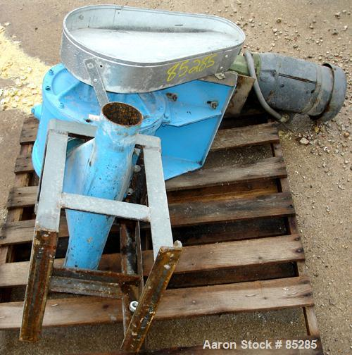 """Used- Carter Day Rotary Valve, Model 8CI12, Carbon Steel. 8"""" x 12"""". 8 vane rotor, approximately .80 cubic feet per revolutio..."""