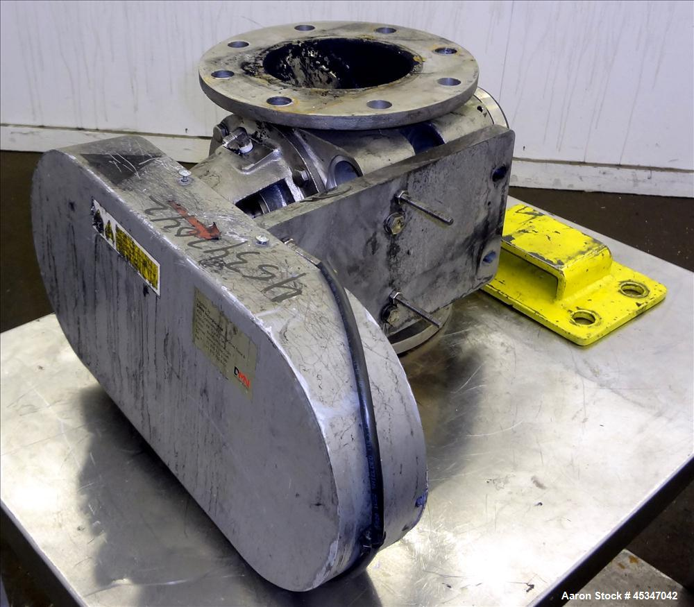 "Used- DMN 6"" Rotary Valve for Feed to Dryer System flash Track, Model AL-150-2D."