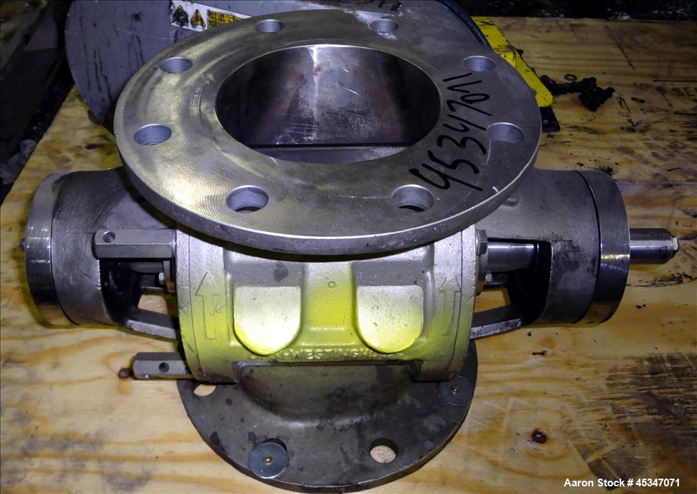 Used- DMN Westinghouse Rotary Valve, Model AL150-2D, 316 Stainless Steel.