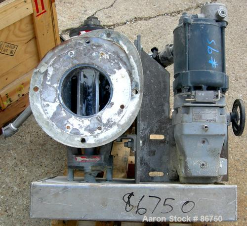 "USED- Flo-Tronics/Mac Rotary Valve, Model RV-501. 8"" x 8"" approximate 8 vane closed rotor, 304 stainless steel. Approximate ..."