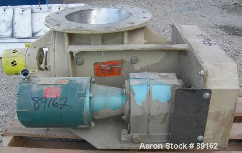 "USED: General Resource Corp rotary valve, model 133-23111. Approximate 12"" diameter x 12"" wide open vane carbon rotor, .6 cu..."