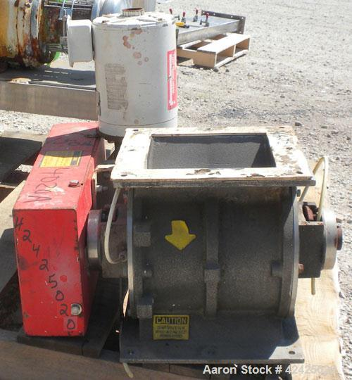 """Used- Horizon Systems Rotary Airlock, Model F94G0441, 304 Stainless Steel. Approximate 10"""" x 10"""" open vaned rotor, approxima..."""