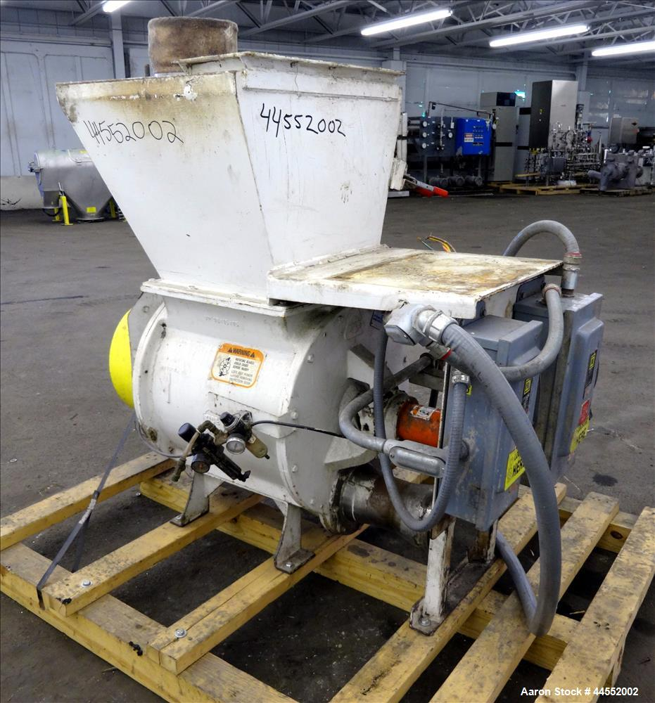 Used- Kice finish product transfer system airlock, model VPOT18X15X15, carbon steel. Approximately 1.93 cubic feet per revol...