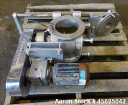 "Used- Nu-Con Equipment Rotary Valve, Model DT375DEMU, Stainless Steel. Approximate 0.176 Cubic feet per revolution. 7-1/2"" D..."