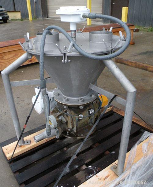 """Used- Carolina Conveying Heavy Duty Blow Thru Rotary Airlock, model Size 8, 317 stainless steel. Approximately 8"""" diameter x..."""