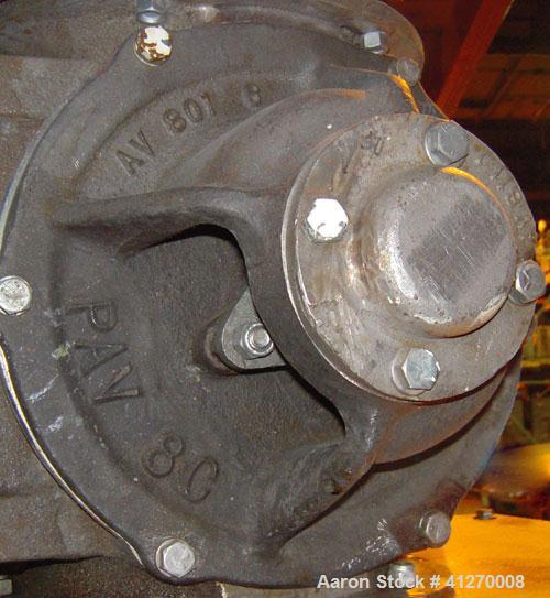 "Used- Prater-Sterling Heavy Duty Airlock Rotary Valve, Model PAV-8C, 316 Stainless Steel. Approximately 8"" diameter x 8"" wid..."