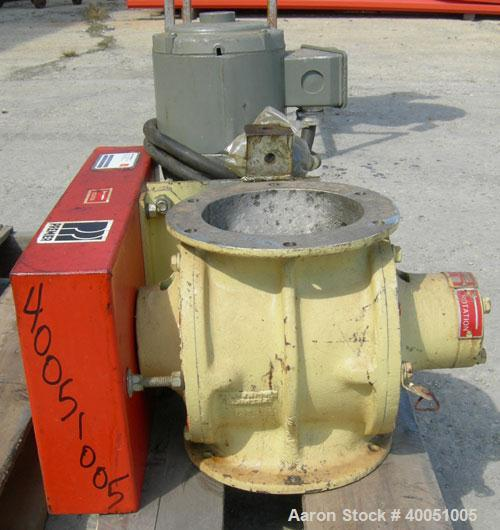 Used-  Premier Pneumatics Heavy Duty Airlock Rotary Valve, Model HDR-GG-76-8NH-2-RT-T3, 304 Stainless Steel.  Approximately ...
