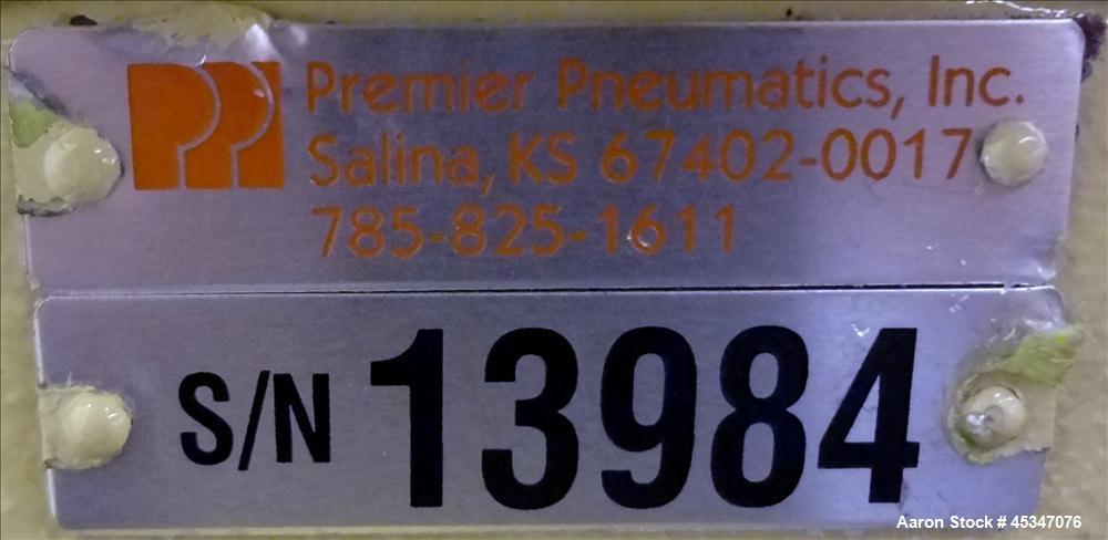 "Used- Premier Pneumatics Inc. Rotary Valve, 8"" diameter flange."