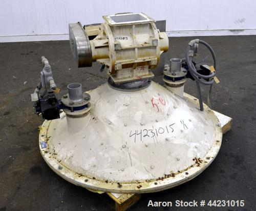 Used- Carbon Steel Reimelt Hopper Discharge Cone, Model 891,