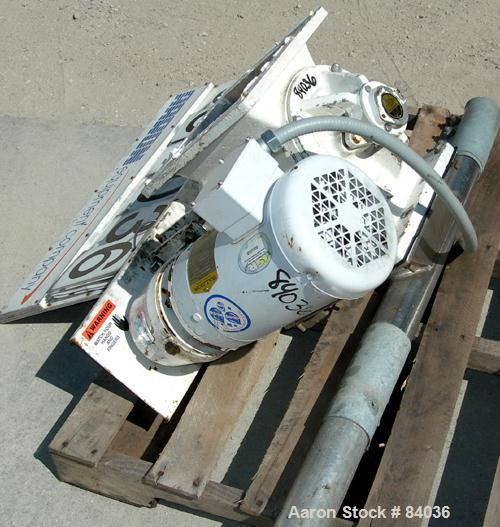 """USED: Rotolock Rotary Valve, model 20RVSSSS1B000A, 316 stainless steel. 8"""" x 8"""". Open vane rotor, approximately .21 cubic fe..."""
