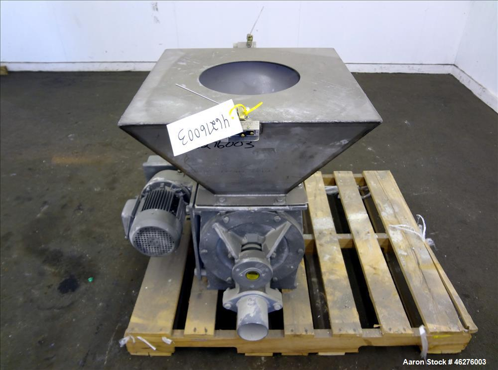 """Used- Rotolok Blowing Seal Rotary Valve, Model 28BSRCS08B, 316 Stainless Steel. Approximately 12"""" diameter x 12"""" wide open v..."""
