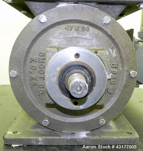 "Used- Smoot Type 5 Rotary Valve, Model FT9, 316 Stainless Steel. Approximately 0.27 cubic feet per revolution.  8"" Diameter ..."