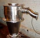 Used- AZO Rotary Airlock, Model AL200, stainless steel. Includes a receiving hopper and stainless steel cyclone. Driven by a...