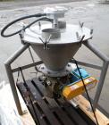 Used- Carolina Conveying Heavy Duty Blow Thru Rotary Airlock, model Size 8, 317 stainless steel. Approximately 8