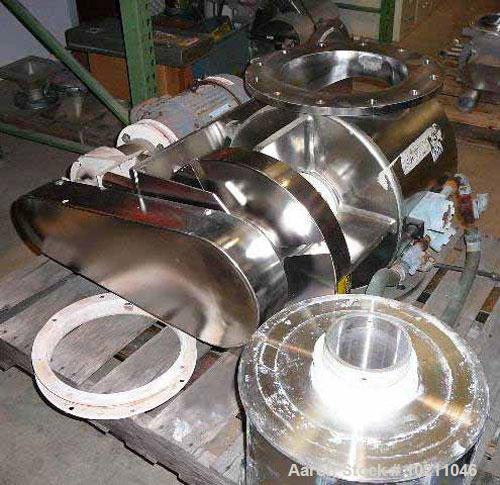 "Used-12"" Diameter Young Shallow Pocketed Rotary Valve, stainless steel, size 12CA-HC-SA CL15. Shop #10750-1. Pharmaceutical ..."