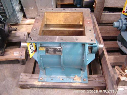"Used-13"" X 13"" Young 14 LH 316 Stainless Steel Rotary Airlock Valve. Airlock is 13"" X 13"" X 20"" overall height. 316 stainles..."
