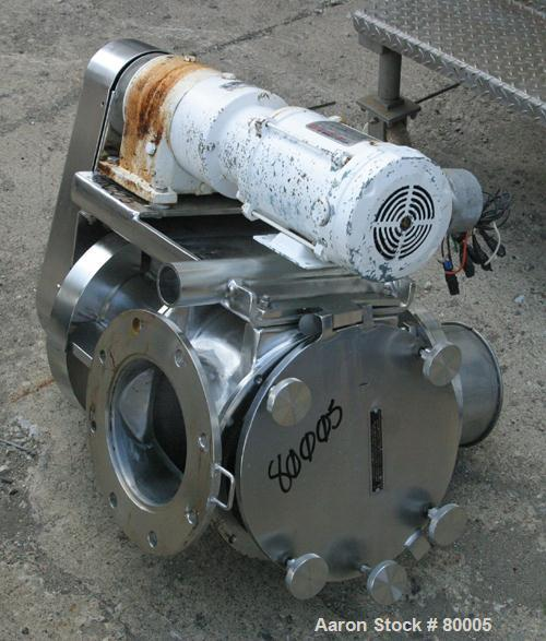 """USED: Young rotary valve, size 8, model 8CA-HC, 316 stainless steel. 8"""" diameter x 12"""" wide chamber. Unit requires a rotor. ..."""