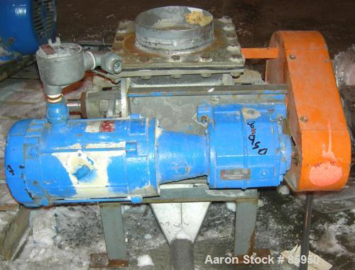 """USED: Young Industries rotary valve, model 8INLH, 304 stainless steel.8"""" x 8"""". 8 vane closed rotor, approx .182 cubic feet p..."""