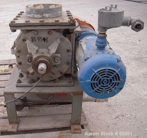 """USED: Young Industries Rotary Valve, Model 8INLH, 304 stainless steel. 8"""" x 8"""". 8 vane closed rotor, approx .182 cubic feet ..."""