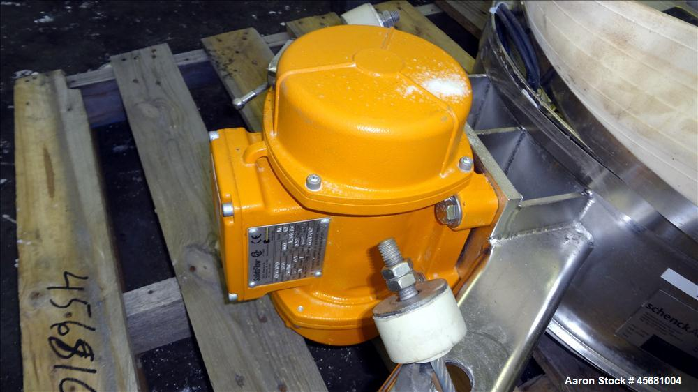 "Used- Schenck AccuRate SolidsFlow Vibratory Feeder, Model MODSF2-1G-24, 316 Stainless Steel. 24"" Diameter feed tray, driven ..."