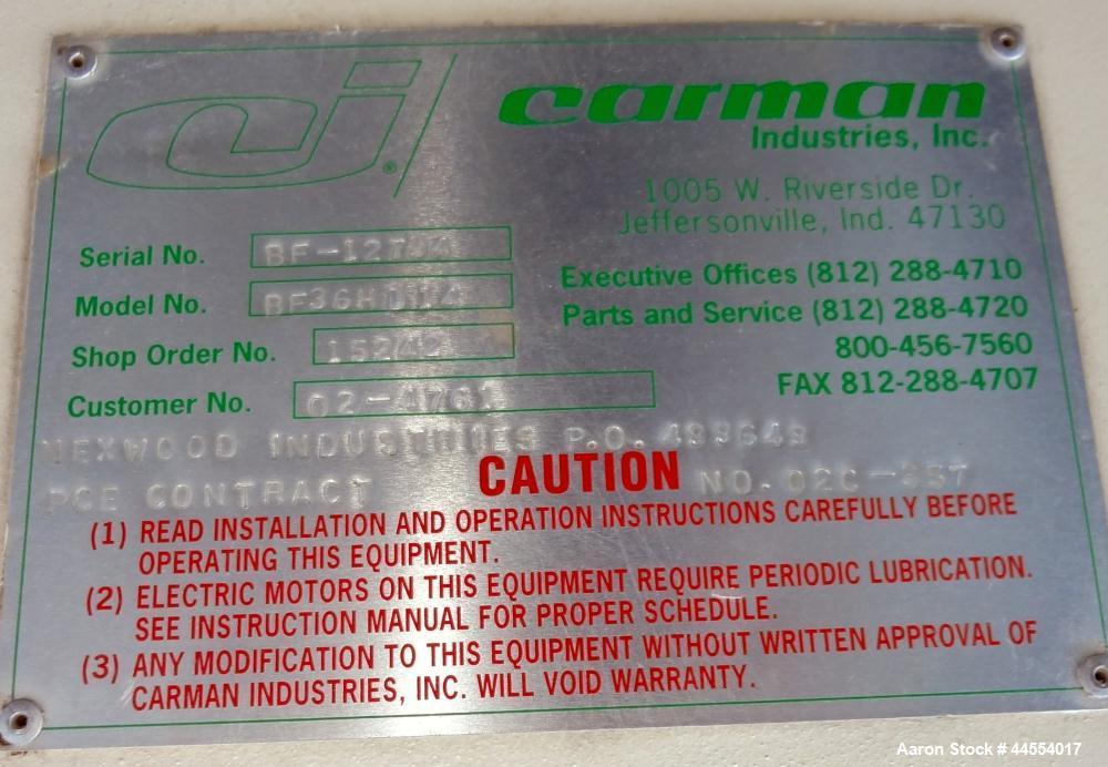Used- Carbon Steel Carman Industries Adjust-A-Flow Vibrating Feeder, Model BF36H