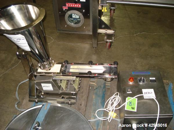 Used- Stainless Steel Arbo Engineering Vibrating Gravimetric Feeder, Type KDA