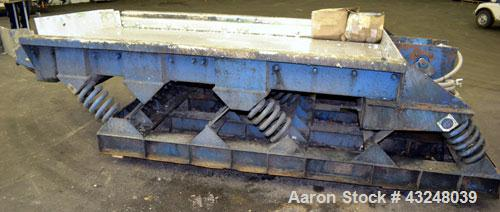 "Used- Kinergy Vibratory Feeder, 304 Stainless Steel. Single deck, 2 separation Approximate 48"" wide x 96"" long deck with app..."