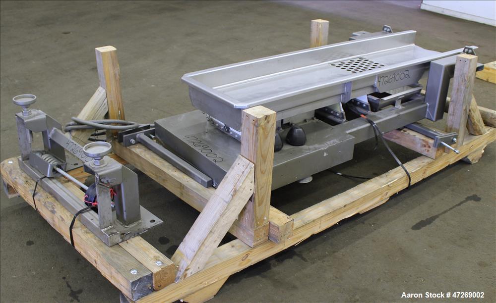 Used- Smalley Vibratory Conveyor, Model EMC2-18-6.2-SS/CS.