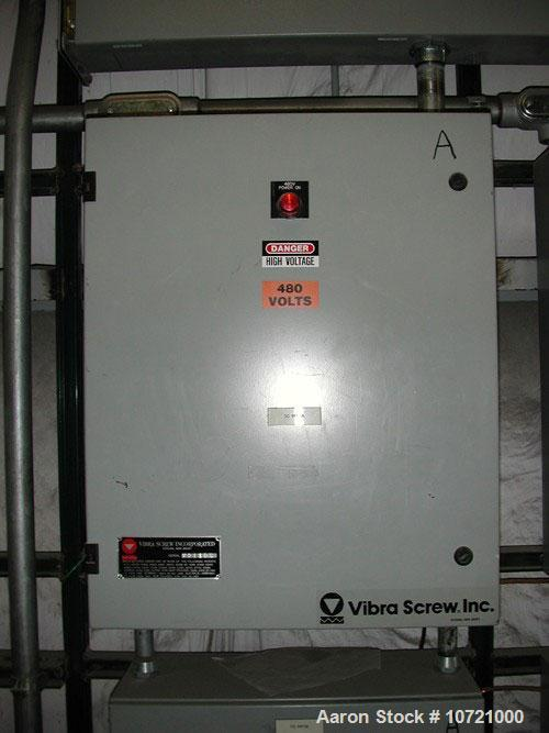"Used-Vibra Screw Loss In Weight Feeder System. Includes Vibra Screw model CLIW2-500-5C, 2"" screw, rated 52-1040 lbs/hour, fe..."