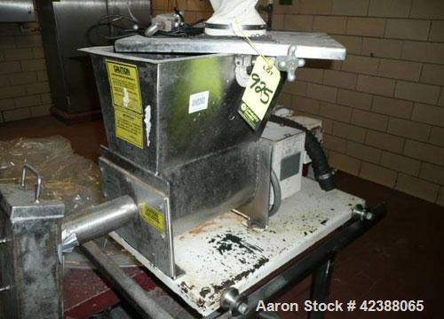 "Used-Acrison 105X-B Stainless Steel Feeder  13""L X 9""W With 3/4-Hp Motor & Hopper 16"" X 12"" 92275-01"