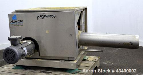 """Used- Schenk AccuRate Dry Material Feeder, Model 1205. Approximately 6-1/2"""" diameter x 30"""" long 304 stainless steel tube (no..."""