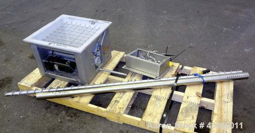 "Used- AccuRate 600 Series Dry Material Feeder, 316 Stainless Steel. Approximately 2-1/2"" diameter x 82"" long screw. Feed rat..."