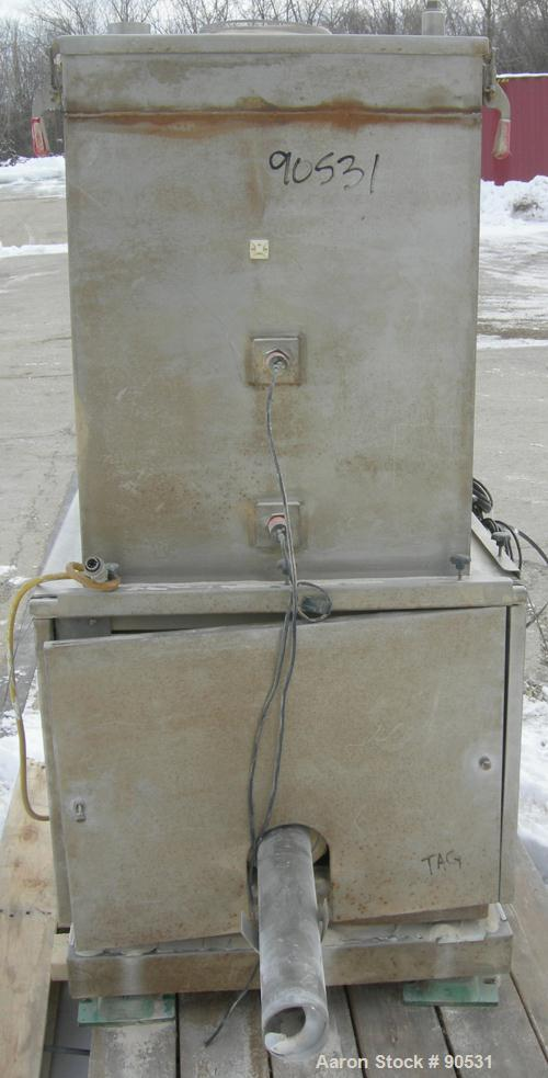 """USED: Accurate Volumetric Dry Material Feeder. Approximate 3"""" diameter x 45"""" long stainless steel screw. Approximate feed ra..."""