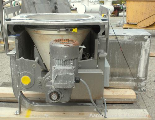 "Used- Schenck AccuRate Mechatron Volumetric Feeder, Model MC-1V-1A, 304 Stainless Steel. Approximately 2-7/8"" diameter x 48""..."
