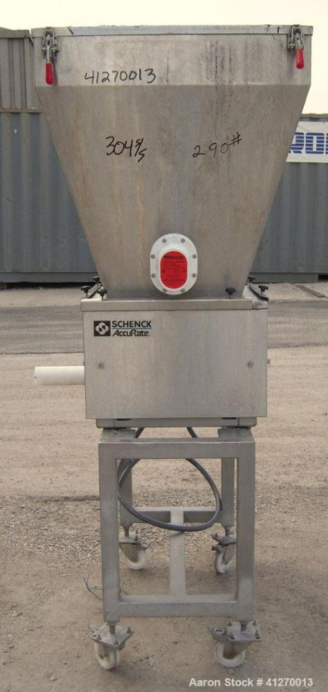 """Used- AccuRate Dry Material Feeder, Type MOD610M, 304 Stainless Steel. Approximately 1.75"""" diameter x 28"""" long helix, feed r..."""