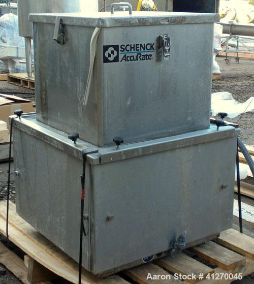 "Used- Schenck AccuRate Dry Material Feeder, model MOD610M, stainless steel. Approximately 1-3/8"" diameter x 28"" long 316 sta..."