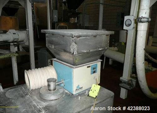 "Used-Accurate Dry Material Screw Feeder With Stainless Steel Hopper 18""L X 18""W X 12""D"