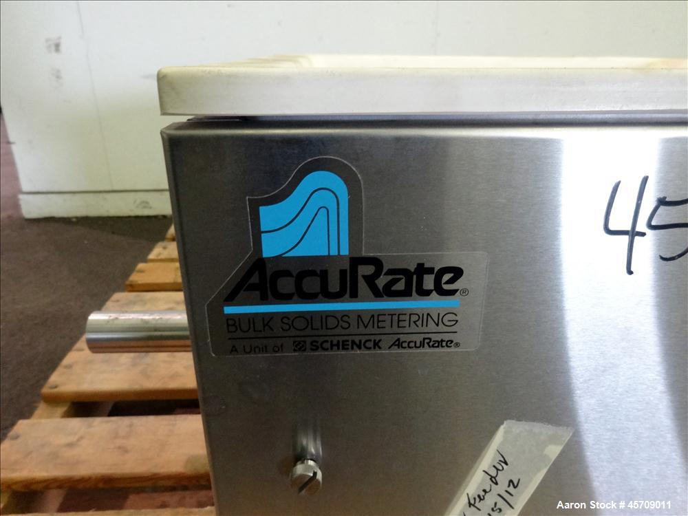 """Used- Accu-Rate 600 Series Dry Material Feeder, 304 Stainless Steel. Approximately 1-3/4"""" diameter x 22"""" long screw with tub..."""