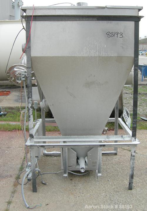 "Used- Accu-Rate Volumetric Dry Material Feeder. (1) Approximate 2-1/4"" diameter x 28"" long, 304 stainless steel, screw; feed..."