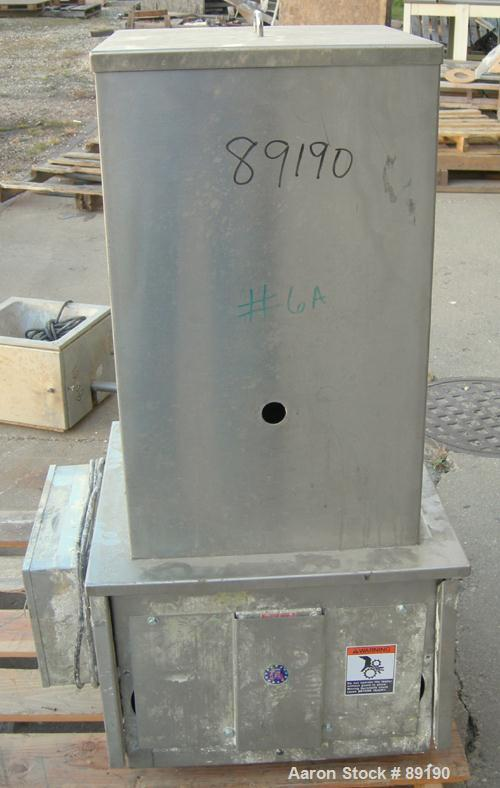 """USED: Accurate volumetric dry material feeder. Approximate 2"""" diameterx 30"""" long 304 stainless steel screw, feed rate to 48 ..."""