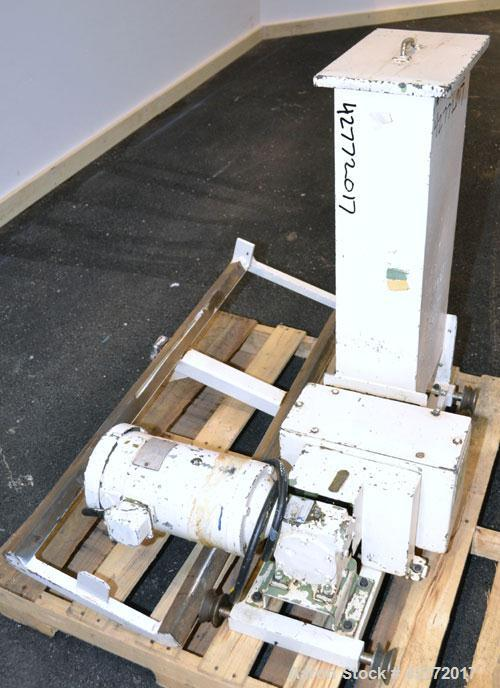 Used- Acrison Volumetric Dry Ingredient Feeder, Model 105-A,304 Stainless Steel.Feed rate to (0.27) cubic feet per hour. A...