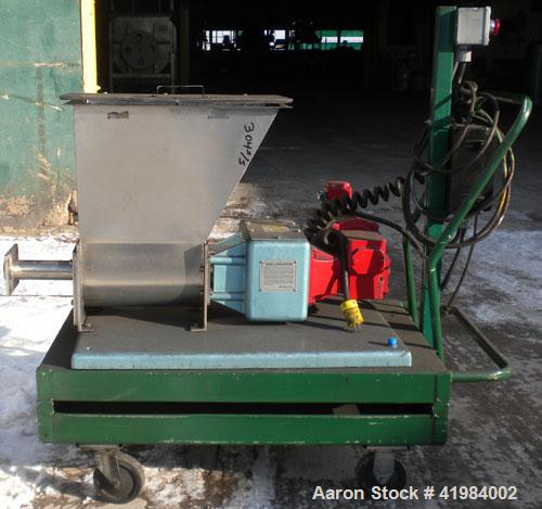 """Used- Acrison Volumetric Dry Ingredient Feeder, model 105-E, 304 stainless steel. Feed rate to 6 cubic feet per hour. 1-3/8""""..."""