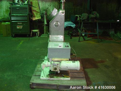 "Used- Acrison Volumetric Feeder, model 105Z-G, stainless steel. 2-1/2"" diameter x 12"" long tube, driven by a 1 hp DC motor w..."